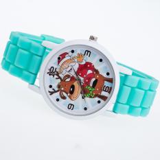 Toko Getek Wanita Anak Anak Natal Reindeer Silicone Jelly Quartz Wristwatch Watch Hijau Terlengkap Di Tiongkok