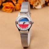 Jual Getek Wanita Berlian Imitasi Stainless Steel Quartz Analog Wrist Watch Silver