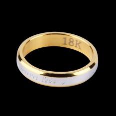 Hadiah Selamanya Cinta Pasangan Kekasih Pencocokan Cincin Baja Jari Cincin Perhiasan untuk Pernikahan-Intl