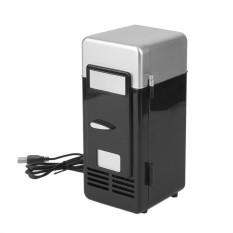 Hadiah USB Mobil Portabel Mini Drink Cooler Baru Mobil Perahu Perjalanan Kulkas Kosmetik Hitam-Internasional