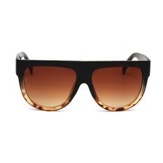 Hadiah Antik Wanita Musim Panas Pantai Kacamata Hitam Trendi Oversize Kacamata Resin Lensa C3-Internasional