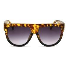 Hadiah Antik Wanita Musim Panas Pantai Kacamata Hitam Trendi Oversize Kacamata Resin Lensa C5-Internasional
