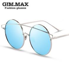 Gimmax Hijau Jalanan Wanita Kacamata Hitam Sepanjang Kacamata Hitam Pasang Anak Laki-laki Bintang Retro Warna-warni Reflektif Kacamata-Internasional