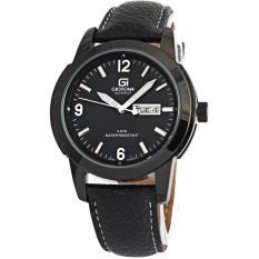 Giotona 2140 - strap kulit - Full Black - Jam tangan Pria