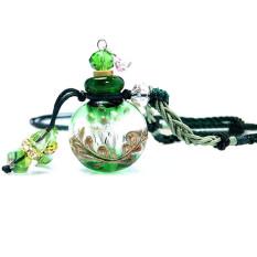 Kaca Aromaterapi Minyak Esensial Parfum Penyebar Rantai Liontin Kalung Hijau