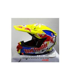 GM Helm CROSSKIDS REDBULL ANAK Yellow FLO Blue MotoCross TraiL