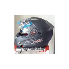GM Helm Race Pro X-Race / Racepro X Race Double Visor Black Doff