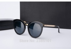 Gm Sunglasses Lovesome One round Sunglasses Vintage Women Brand Design With V Logo And Original Box