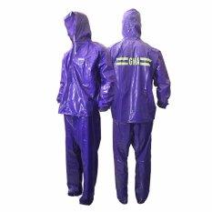 GMA Raincoat Stelan Karet PVC Baru - Jas Hujan GMA - Biru
