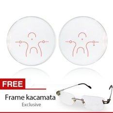 Go-optic Lensa Kacamata Progressive Platinum Anti Blue Light + Gratis Frame Kacamata Exclusive