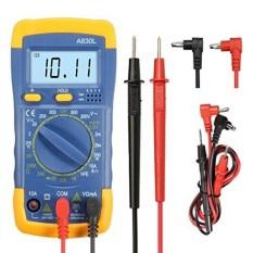 GOCHANGE LCD Digital Multimeter/Volt Amp Ohm Meter/AC DC Voltmeter Multimeter dengan Spotlight Lampu Latar Cocok untuk Sekolah, Facto-Intl