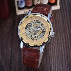 GOER skeleton semi-automatic Mechanical wristwatch water resistance business Roman numeral hour marks watch - intl