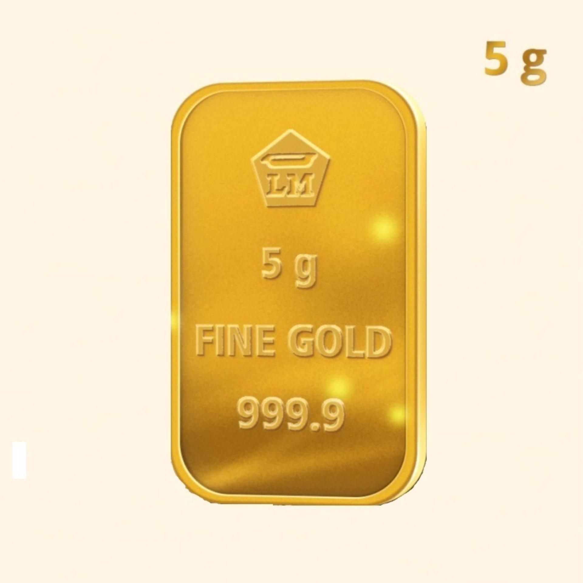 Gold Antam Emas LM Logam Mulia 5 Gram Sertifikat LBMA 2011-2015