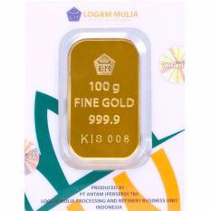 Gold Logam Mulia Antam 100 Gram (Kemasan New Press) - 24 Karat Sertifikat Resmi Antam - Emas Asli - Bergaransi - Istimewa - Cetakan Terbaru Tahun 2017 - Gratis Voucher Carrefour Senilai Rp2.500.000