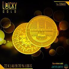 Gold Logam Mulia Koin 1 4 Dinar 1 06 Gram 22 Karat Bersertifikat Antam Gold Diskon 50