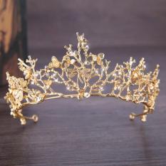 Golden Mahkota Barok Aksesoris Rambut Pernikahan Tiara Pengantin Mahkota Aksesoris Rambut Pernikahan Aksesori Pengantin Rambut Jewelr