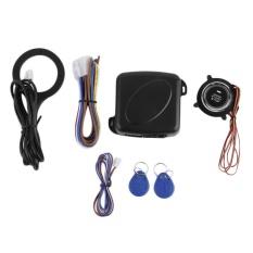 BAIK Sistem Alarm Mobil Remote Control Central Door Lock Wireless Entry System Kit Hitam-Intl