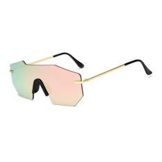 BAIK Pria Wanita Super Keren Kacamata Hitam Bingkai Logam UV400 Melindungi Kacamata Sunglasses Pink Mercury-Intl