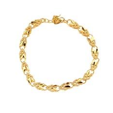 Perhiasan Gelang Rantai Berbentuk Hati Malaikat With Sepuhan Emas 24 Karat