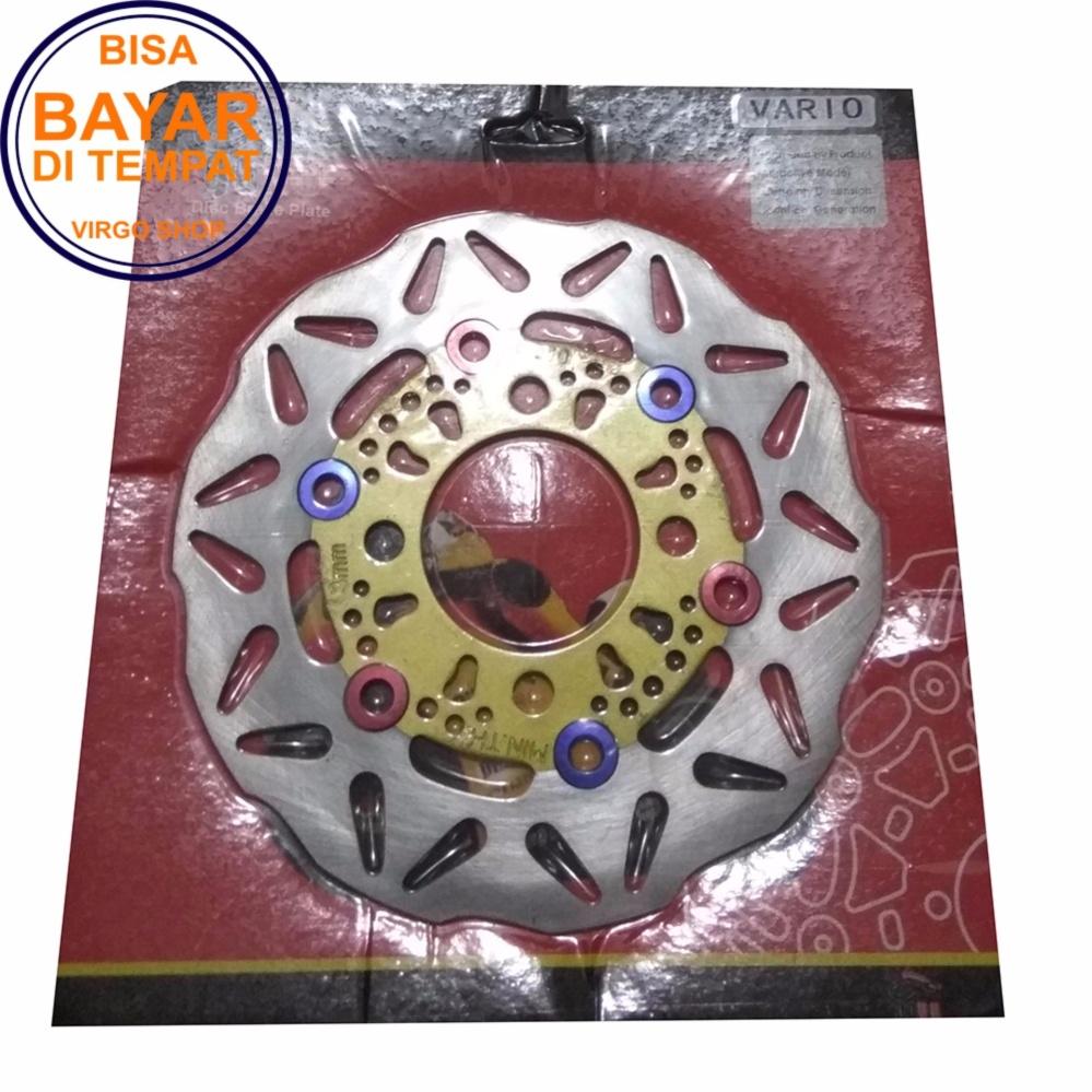 Goyo Piringan Rem Cakram Motif Ring Warna Disc Brake Motor VARIO Lama / Beat Lama