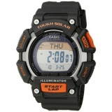 Jual Gpl Casio Mens Stl S110H 1Acf Tough Solar Runner Digital Black And Orange Watch Ship From Usa Intl