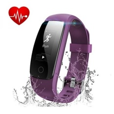 GPL/Kebugaran Tracker dengan Heart Rate Monitor, Runme Aktivitas Tracker Smart Watch dengan Tidur Monitor, Waterproof Walking Pedometer Band dengan Panggilan/SMS Mengingatkan untuk IOS/Android Smartphone (Ungu) /kapal dari AMERIKA SERIKAT-Intl