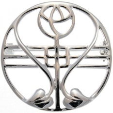 GPL/ Sterling Silver Charles Rennie Mackintosh Brooch (Pin) with Gift Box/ship from USA - intl