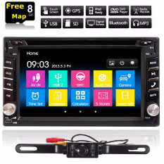 Gps Navigasi 1080 P HD Double 2 DIN Mobil Radio Pemutar DVD Stereo Head Unit Video Bluetoot H MP3 TV + Kamera-Internasional