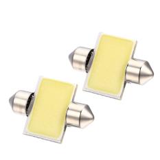 Diskon Gracefulvara 2 Pcs 31 Mm 12 V 3 W Led Cob Festoon Interior Kubah Bohlam Peta Mobil Membaca Cahaya Lampu