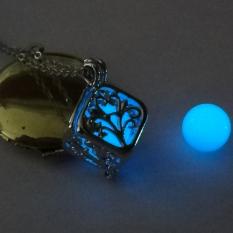 Harga Gracefulvara Mode Menyala Dalam Gelap Kubus Berongga Pohon Kehidupan Liontin Kalung Biru Yang Bagus