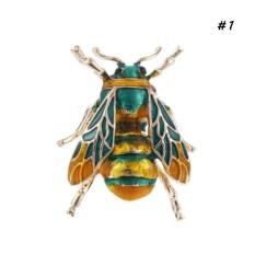Gracefulvara Modis Leuke Bee Zwart Geel Emaille Serangga Broches Voor Vrouwen Anak-anak Animal Broche Sieraden Jarum Hijab Pesta Geschenken Accessoires -Internasional