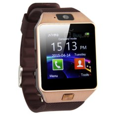 Great Unisex Smartwatch DZ09 Bluetooth with SIM Card and Micro SD slot for Android Smartphone - Brown