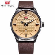 Toko Great Premium Mini Focus Mf0026G Luxury Brand Watch Men 3Atm Waterproof Sport Watch Men S Leather Quartz Wristwatch Men Analog Military Clock Brown Termurah Indonesia