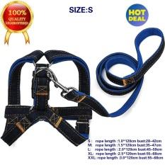 Kualitas Bagus Dog Leash Harness, Adjustable Denim Dog Leash For Pelatihan Berjalan Berlari, Jean D