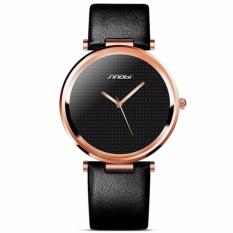 Dream Sinobi 9393 New Fashion Minimalist Women S Rose Wrist Watches Leather Watchband Luxury Brand Simple Ladies Geneva Quartz Clock 2017 Black Gold Diskon Dki Jakarta