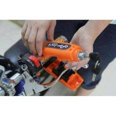 Griplock Caps-Lock Grip Handle - Kunci Gembok Pengaman Stang Motor Anti Maling - Orange