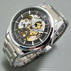Grosir Jam Tangan Rolex Skeleton R034 Silver Black - Erz4af