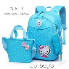 Grosir Tas Ransel Anak Sekolah SD Perempuan Hello Kitty 3in1 Murah 3/Tas sekolah Cewek/Tas sekolah Anak Perempuan