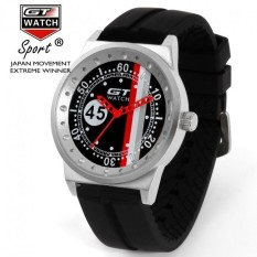 GT Car Racing Mens Womens Couple Casual Silicone Watch BlackGray(Not Specified)(OVERSEAS) - intl