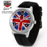 Gt Pria Wanita Car Racing Fashion Bahasa Inggris Quartz Watch Silicone Strap Tiongkok