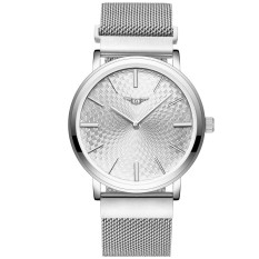 GUANQIN GS19026-1Afs Men Ultra Thin Steel Quartz Watch (Silver White)