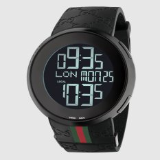 Jual Gucci I Gucci Pvd And Rubber Watch 114207 Jam Tangan Pria Hitam Gucci Online