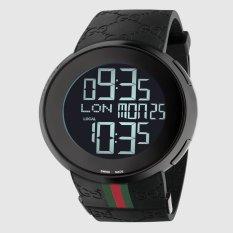 Gucci I-Gucci PVD and Rubber Watch 114207 - Jam Tangan Pria - Hitam