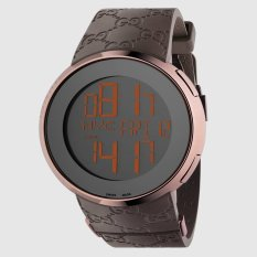 Jual Gucci I Gucci Pvd And Rubber Watch 114209 Jam Tangan Pria Coklat Branded Original