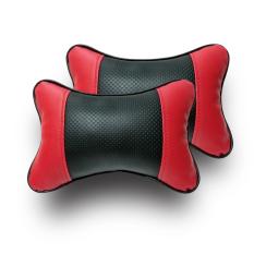 Harga Gudang Leather Bantal Mobil Kulit Sintetis Hitam Merah Gudang Leather Original