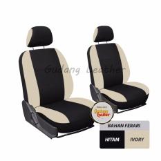 Gudang Leather Sarung Jok Mobil Avanza 2005-2008 - (Hitam - Ivory) Bahan Ferari