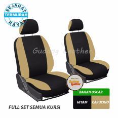 Gudang Leather Sarung Jok Mobil Avanza 2008 (Hitam - Capucino) - OSCAR