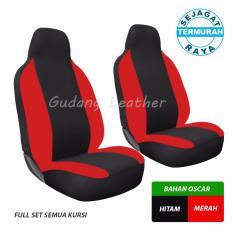 Gudang Leather Sarung Jok Mobil Toyota Agya  (Hitam-Merah)