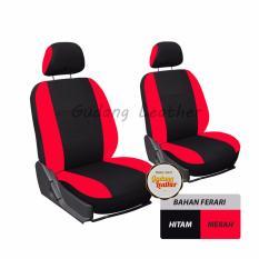 Gudang Leather Sarung Jok Mobil - Toyota Rush Ultimo - Hitam Merah
