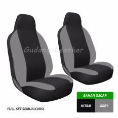 Gudang Leather Sarung Jok Mobil Toyota Sigra (Hitam-Grey) / Bahan OSCAR